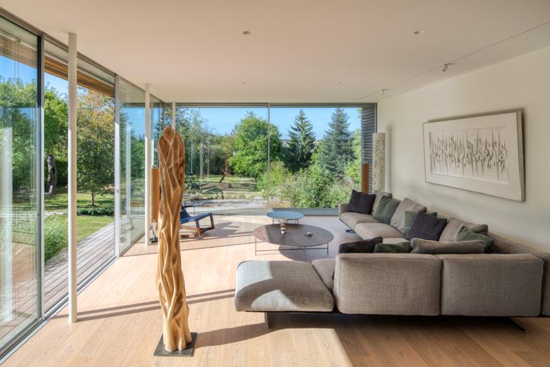 Photo d'une extension avec deux baies vitrées